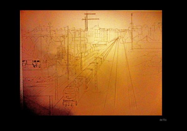 dibujo tren